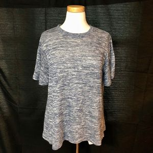 Old Navy Blue Marbled A-line Shirt